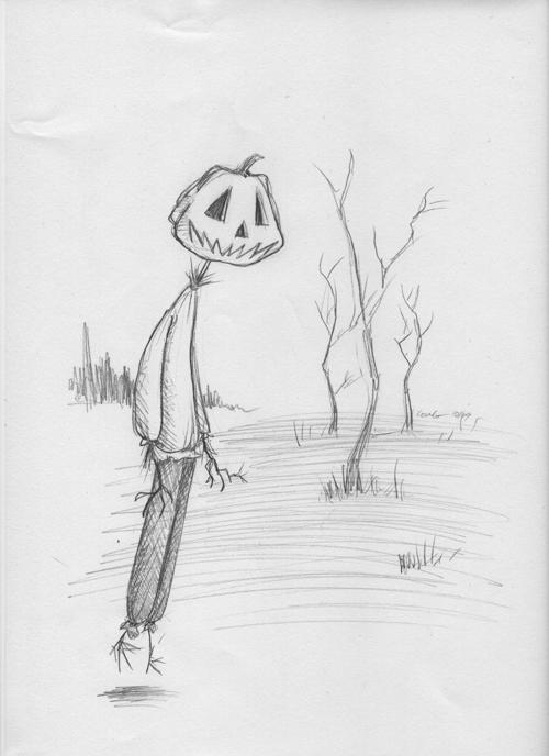 Pumpkin Head Drawing Pumpkinhead